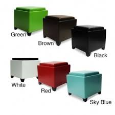 Black Storage Ottoman With Tray Storage Ottoman Cube With Tray Foter