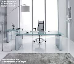 meuble de bureau design meubles de direction bureau design contemporain plateau verre ou