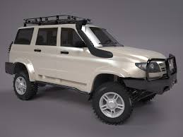 uaz hunter 2014 uaz patriot off road version 1 3d model in suv 3dexport