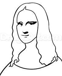 draw mona lisa easy step by step drawing sheets added by dawn