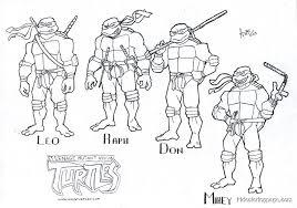 teenage mutant ninja turtles coloring free coloring pages art