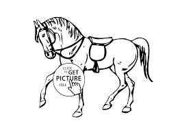 horse animals coloring pages for kids printable free coloing