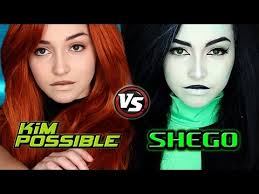 kim possible live action kim and shego makeup tutorial youtube