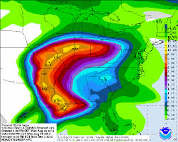 rainfall totals map heavy expected tornadoes possible when isaac hits arkansas