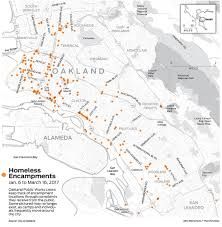 Oakland Ca Map Homeless Camps Becoming Entrenched In Oakland San Francisco