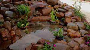 build a garden pond waterfall video diy