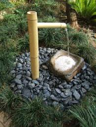 japanese zen garden ornaments bamboo water tsukubai