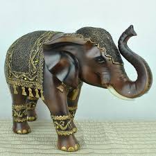creative decoration wood carved elephant farm animals decorative