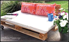 Patio Furniture Made Of Pallets by Hallway Happenings Pallets Become Outdoor Furniture