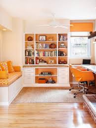 home office necessities contemporary orange and white home office hgtv contemporary and