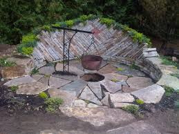 decorating small round fire pit for outdoor patio ideas with