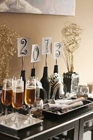 nye party kits preparing for the new year bottle wine and place holder