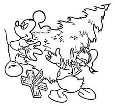 mickey donald moving christmas tree coloring mickey