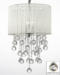 White Chandelier With Shades G7 White 604 3 Gallery Chandeliers With Shades Crystal Chandelier