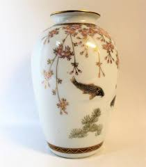 Koi Fish Vase Japanese Meiji Period Porcelain Vase With Koi Fish At 1stdibs