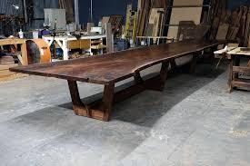 Walnut Slab Table Live Edge Walnut Dining Room Table Black Wood Slab Tables By
