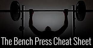 Bench Press Lock Elbows The Bench Press Cheat Sheet Jmax Fitness