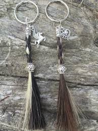 keepsake keychains braided rope tassel hair key chain equine keepsakes