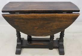Drop Leaf Oak Table Antique Jacobean Style Oak Oval Dropleaf Coffee Table
