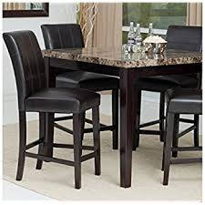 Dining Room Sets Contemporary by Amazon Com Counter Height Dining Table Set Contemporary Style
