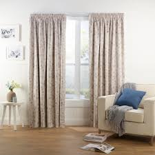 decor heritage pinch pleat curtains in blue plus wooden floor and