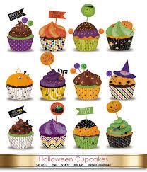 halloween cupcake wrappers 12 designs purple orange green
