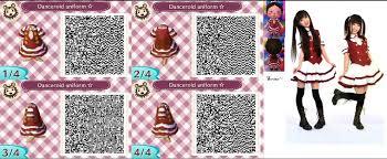 acnl hair qr codes animal crossing new leaf qr code danceroid uniform by