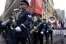 thanksgiving day in the us academy band marches in macy u0027s parade u003e u s air force u003e article