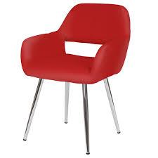 Esszimmerstuhl In Rot Hwc A50 Stuhl Lehnstuhl Retro Kunstleder Rot