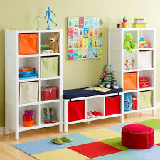 Ottoman Shelf by Decorating Ideas Cube Storage In Primary Colors Childs Playroom