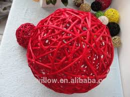 Vase Fillers Balls Colorful Christmas Tree Decorative Rattan Ball Home Decor Vase