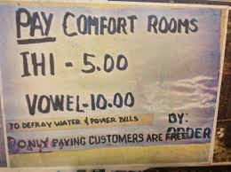 Signage For Comfort Rooms Language Log Vowel Movement