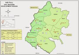 map of far western development region beautiful farwest of nepal