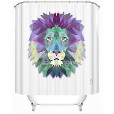 lion print fabulous creative 3d prismatic lion print shower curtain