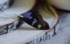 butterfly wing necklace images Real butterfly wing necklace holly fields of gold jpg