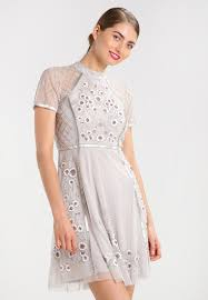 frock and frill argelia cocktail dress party ice grey women