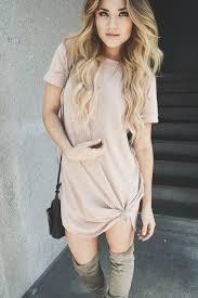 caitlynn lawson windsor store blush pink t shirt dress windsor