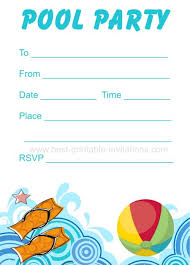 printable party invitations pool party invitation free printable party invites from www best