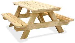 wooden picnic table interiors design