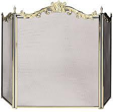 brass fireplace screen binhminh decoration