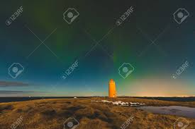when are the northern lights visible in iceland northern lights in iceland panoramic view of coastline with stock