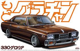 nissan cedric 330 the beautiful box art and history of aoshima model kits japanese