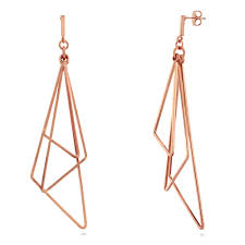 gold dangle earrings gold tone triangle fashion dangle earrings e121