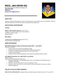 Sample Business Administration Resume by Sample Resume For Bachelor Of Science In Business Administration