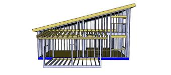 deck roof support on cantilever