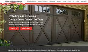 Overhead Door Bangor Maine New Website For Overhead Door Company Of Rutland Vermont