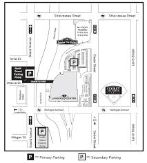 Map Of Lansing Michigan by Parking Lansing Center