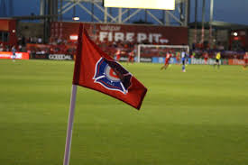 Flag Football Chicago Mls Close Up Chicago Fire San Jose Earthquakes