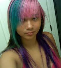 darker hair on top lighter on bottom is called special effects hair dye manic panic hair dye punky color hair