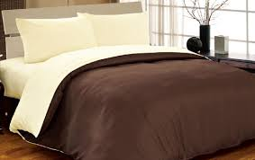Brown And Cream Duvet Covers Complete Double Reversible Chocolate Brown Cream Duvet Cover